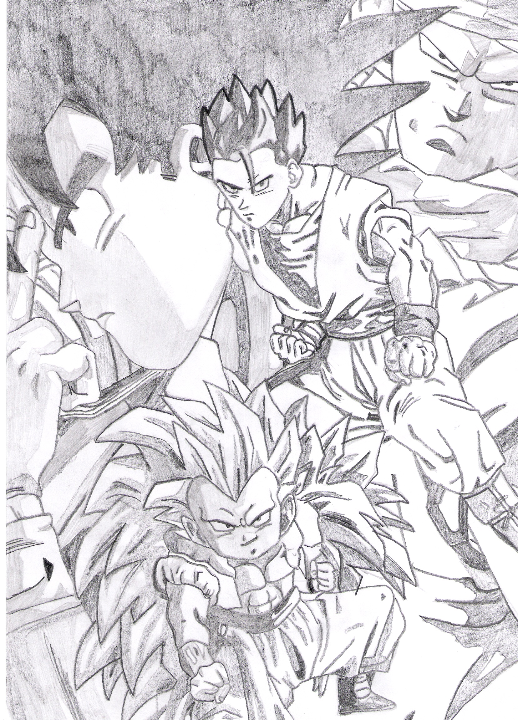 Coloriage Famille Vegeta.My Art